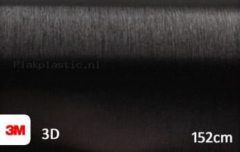 3M 1080 BR212 Brushed Black Metallic plakfolie
