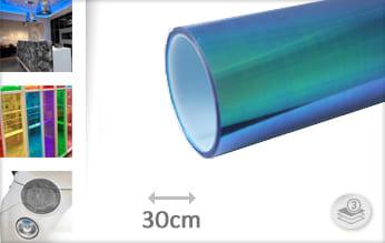 Flipflop blauw doorzichtig plakfolie