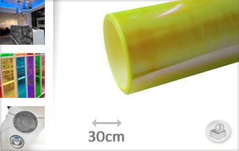 Flipflop geel doorzichtig plakfolie