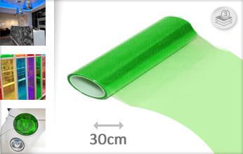 Groen doorzichtig plakfolie