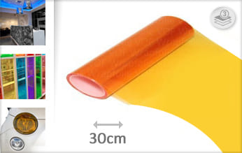Oranje doorzichtig plakfolie