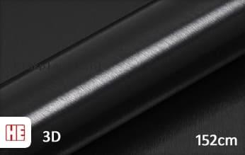 Hexis HX30BA889B Brushed Alu Coal Black Gloss plakfolie