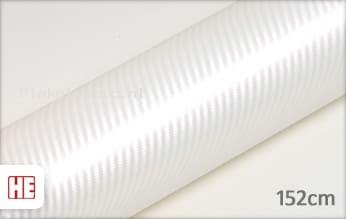Hexis HX30CABPEB Carbon Pearl White Gloss plakfolie