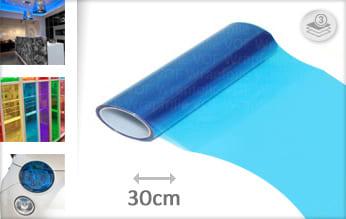 Blauw transparant plakfolie