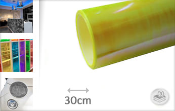 Flipflop geel transparant plakfolie