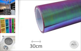 Flipflop paars transparant plakfolie