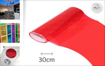 Rood transparant plakfolie