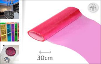 Roze transparant plakfolie