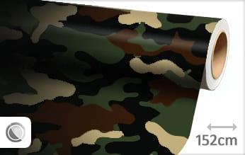 Camouflage leger plakfolie