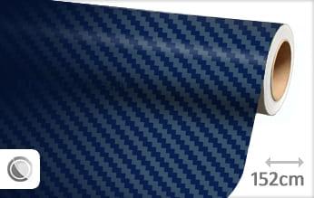 Donkerblauw 3D carbon plakfolie