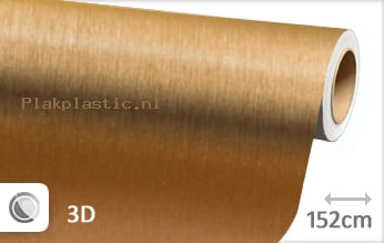 Geborsteld aluminium goud plakfolie