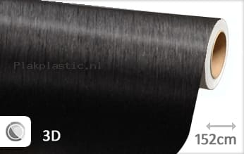 Geborsteld aluminium zwart plakfolie