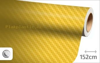 Geel 3D carbon plakfolie