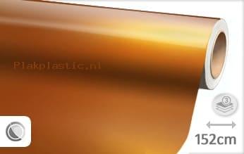 Glans metallic oranje plakfolie