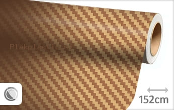 Goud 3D carbon plakfolie