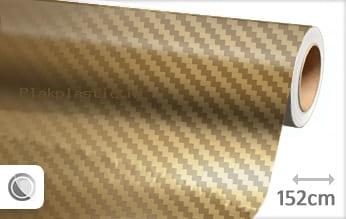 Goud chroom 3D carbon plakfolie