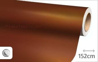 Mat chroom bruin plakfolie