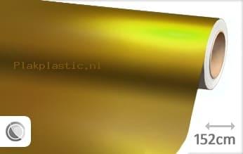Mat chroom geel plakfolie