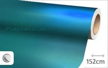 Mat chroom lichtblauw plakfolie