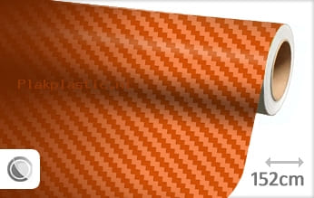 Oranje 3D carbon plakfolie