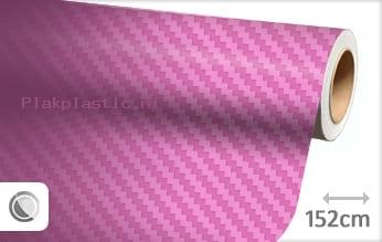 Roze 3D carbon plakfolie