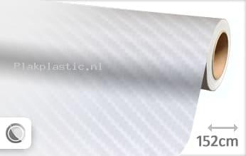 Wit 4D carbon plakfolie