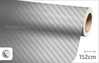 Zilver 3D carbon plakfolie