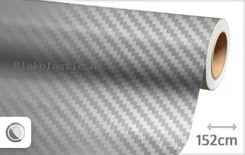 Zilver chroom 3D carbon plakfolie