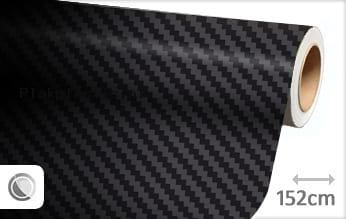 Zwart 3D carbon plakfolie