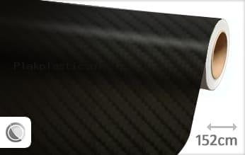 Zwart 4D carbon plakfolie